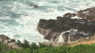 Waves Crashing by Hawaii Landscape 3