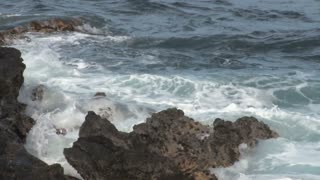Waves Crashing into Rocks 2