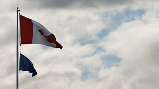 Waving Canadian Flag