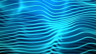 Wavy Light Blue Lines
