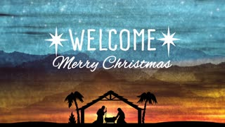 Welcome Nativity Advent Christmas Title Background