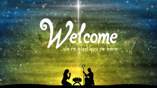 Welcome Text Background Miracle Baby Christmas Nativity
