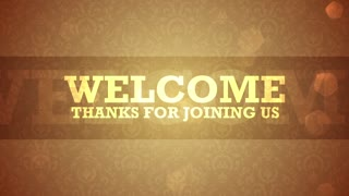 Welcome Text On Gold Pattern