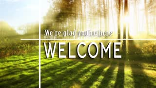 Welcome Title Background Seamless Loop