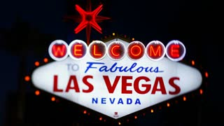 Welcome to Las Vegas sign, Las Vegas, Nevada, United States of America - Time lapse