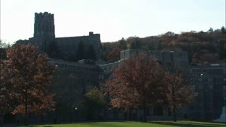West Point Zoom to Academy Chapel
