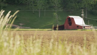 West Virginia Barn On Tilled Field