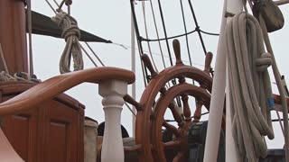 Wheel Helm Of Vintage Ship