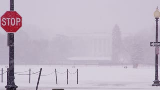 White House During Blizzard