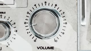 White Spinning Volume Controls