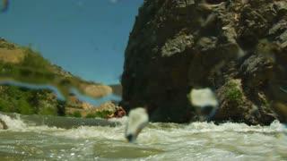 Whitewater Kayaking Shots With Underwater Camera