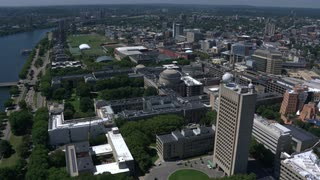 Wide Aerial View Of Mit Campus From Boston, Massachusetts