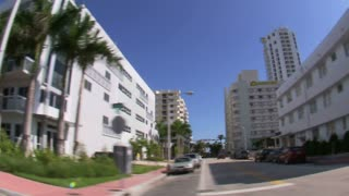 Wide Angle Lens View of Residential Miami