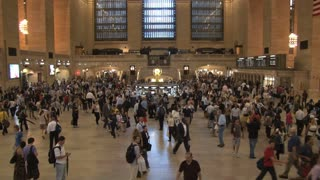 Wide Angle of Crowd at Grand Central Station