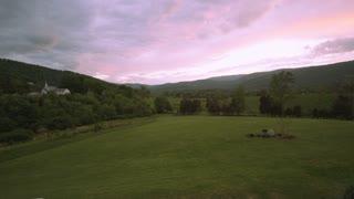 Wide Field Landscape Evening Sky