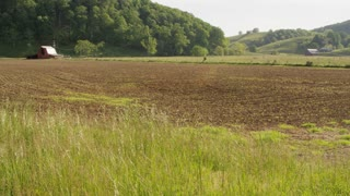 Wide Open Tilled Farmland