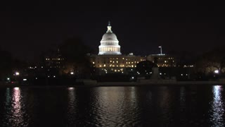 Wide Shot Capitol At Night