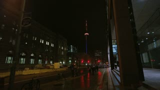 Wide Shot of CN Tower at Night