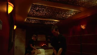 Wide Shot Of Couples Massage
