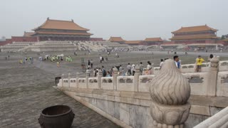 Wide Shot of Forbidden City Temple