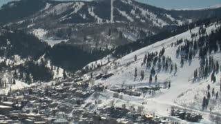 Wide Shot Of Old Town Park City Utah