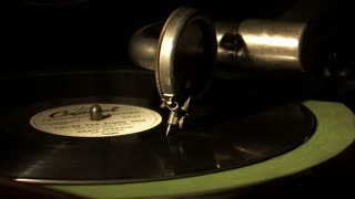 Wide Shot of Record Needle and Record Ending
