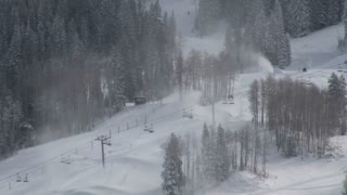 Wide Shot Of Ski Lift 2
