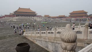 Wide Shot of the Forbidden City in Time Lapse