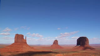 Wide Time Lapse Monument Valley Utah