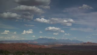 Wide Timelapse Shot In The Arches National Park