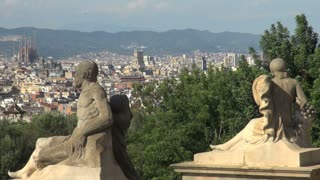 Wide View of Barcelona Spain 2
