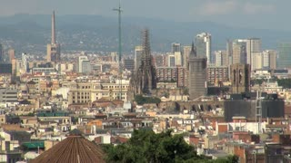 Wide View of Barcelona Spain 7