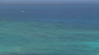 Wide View of Blue Green Caribbean Waters