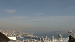 Wide View of Hazy Bosphorus at Istanbul 2