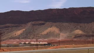 Wind Blows Uranium Tailings Near Moab Utah