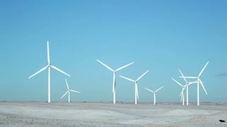 Wind Farm Spinning Turbines 1
