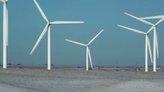 Wind Farm Spinning Turbines 2