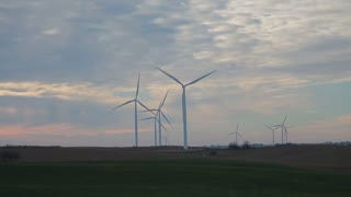 Wind Turbine Field in Late Afternoon