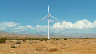 Windmill Cloud and Desert Timelapse