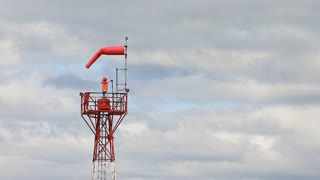 Windsock Tower In Clouds