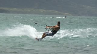 Windsurfer Crash On Waves