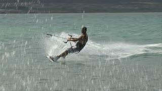 Windsurfer Jump Spin