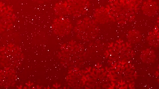 Winter Joy Motion Background. Red Christmas Snow