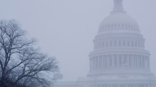 Wintery Fog Surrounding DC Capitol Building