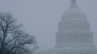 Wintery Snow Blizzard At Capital