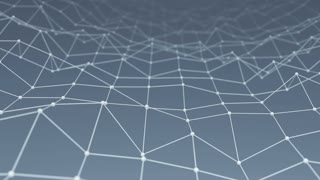 Wireframe network shape vibrate loop background 4k UHD (3840x2160)