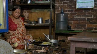 Woman Cooking Authentic Nepali Food 2