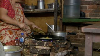 Woman Cooking Authentic Nepali Food