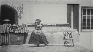 Woman Dancing in Vaudeville Act
