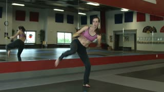 Woman Doing Martial Arts Exercises 2